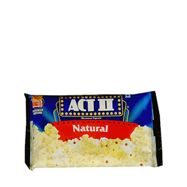 Act II Microwave Popcorn Natural