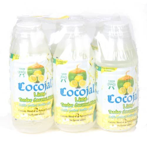 cocojal tender coconut water lime flavour pack of 6