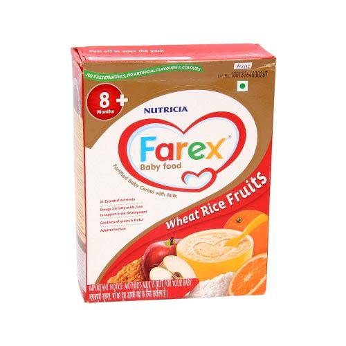 Farex Milk Cereal Based Complementary Food Wheat Rice Fruits RF