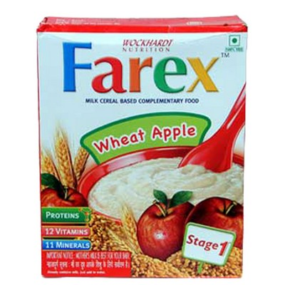 Farex Milk Cereal Based Complementary Food Wheat Apple RF