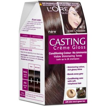 Loreal Casting Creme Gloss Conditioning Colour No Ammonia 415 iced chocolate